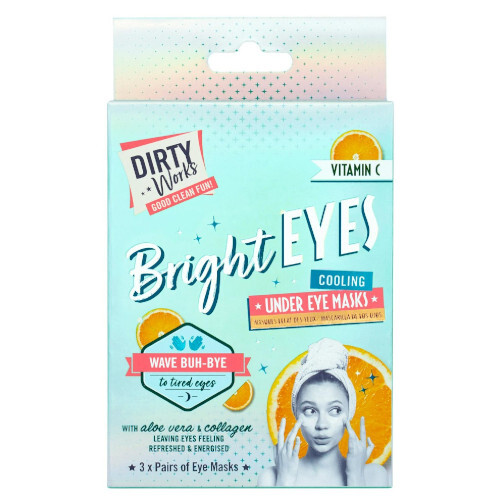 Dirty Works Rozjasňující maska pod oči Bright Eyes (Cooling Under Eye Mask) 3 x 4 ml