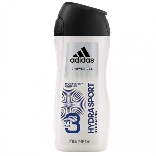 Adidas Sprchový gél 3 v 1 pre mužov Hydra Sport (Shower Gel Body Hair Face) 250 ml