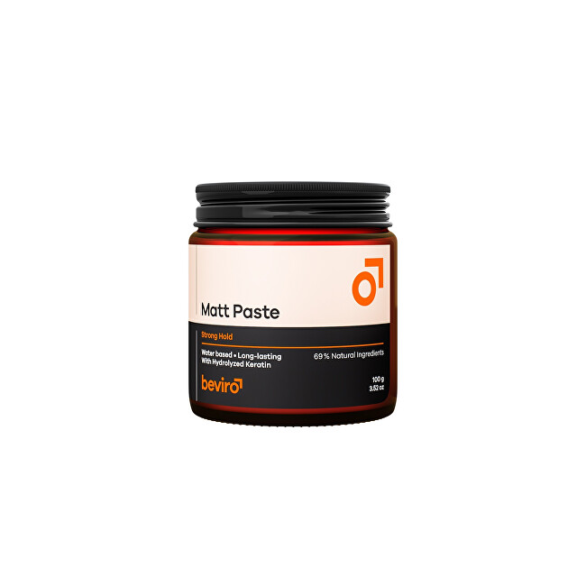 beviro Zmatňujúci pasta na vlasy - silná fixácia (Matt Paste Strong Hold) 100 g