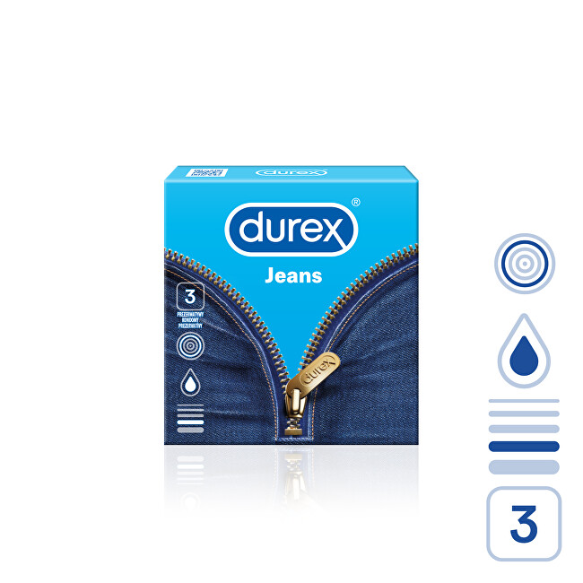 Durex Kondomy Jeans 3 ks
