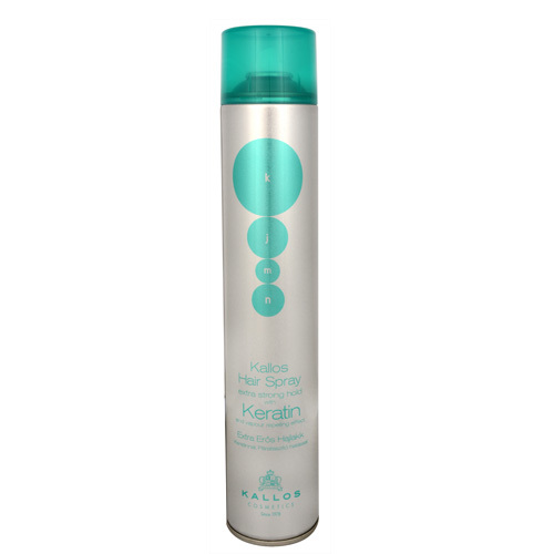 Kallos Extra silně tužící lak na vlasy s keratinem (Hair Spray Extra Strong With Keratin) 750 ml