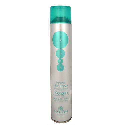 Kallos Extra silne tužiaci lak na vlasy s keratínom (Hair Spray Extra Strong With Keratin) 750 ml
