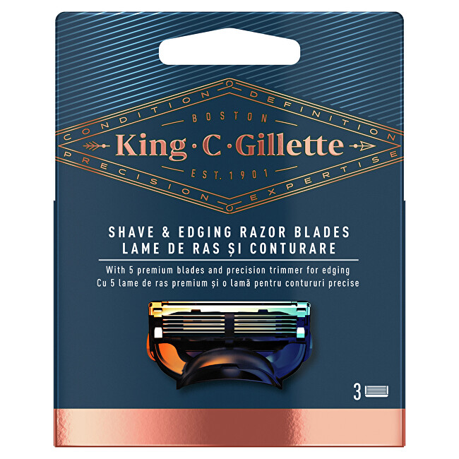 Gillette Náhradné hlavice King (Shave & Edging Razor Blades) 5 ks