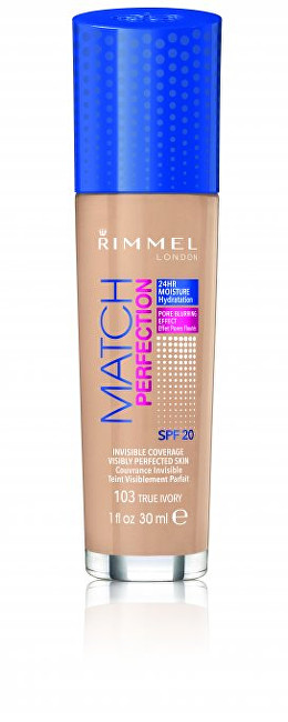 Rimmel Hydratační Make-up Match & Perfect foundation 100 Ivory