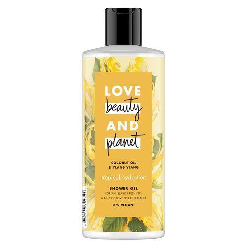 Love Beauty and Planet Hydratační sprchový gel s ylang-ylang a kokosovým olejem (Tropical Hydration Shower Gel) 500 ml