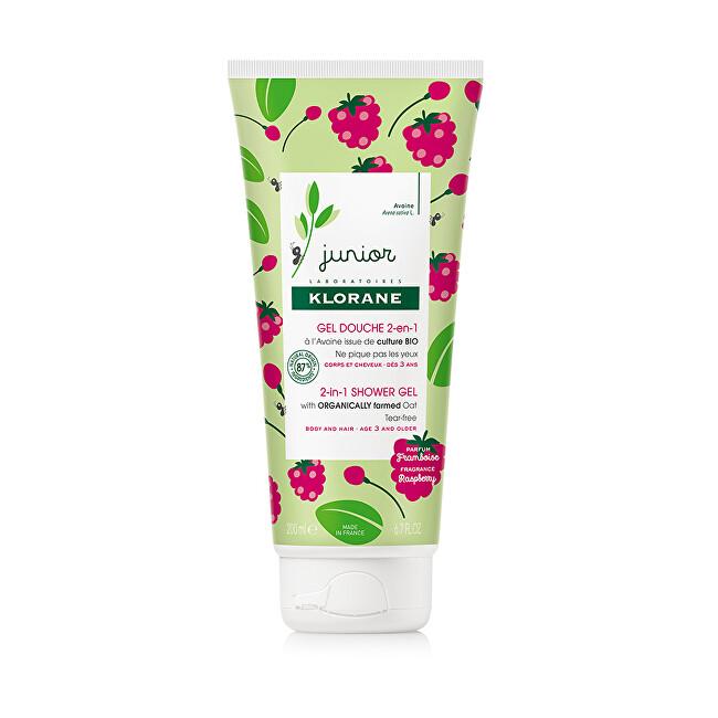 Klorane Detský sprchový gél a šampón Junior (2-1 Shower Gel) 200 ml
