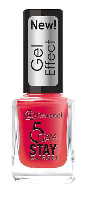 Dermacol Lak na nehty s gelovým efektem 5 Day Stay (Nail Polish Gel Effect) 12 ml 32 Chat Noir
