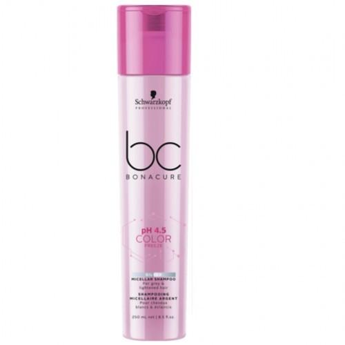 Schwarzkopf Professional Micelárny šampón pre neutralizáciu žltých tónov Bonacure Color BC pH 4.5 CF (Micelar Shampoo) 250 ml