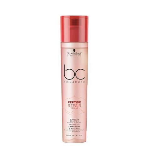 Schwarzkopf Professional Micelárny šampón pre poškodené vlasy BC Bonacure Peptide Repair Rescue (Micellar Shampoo) 250 ml