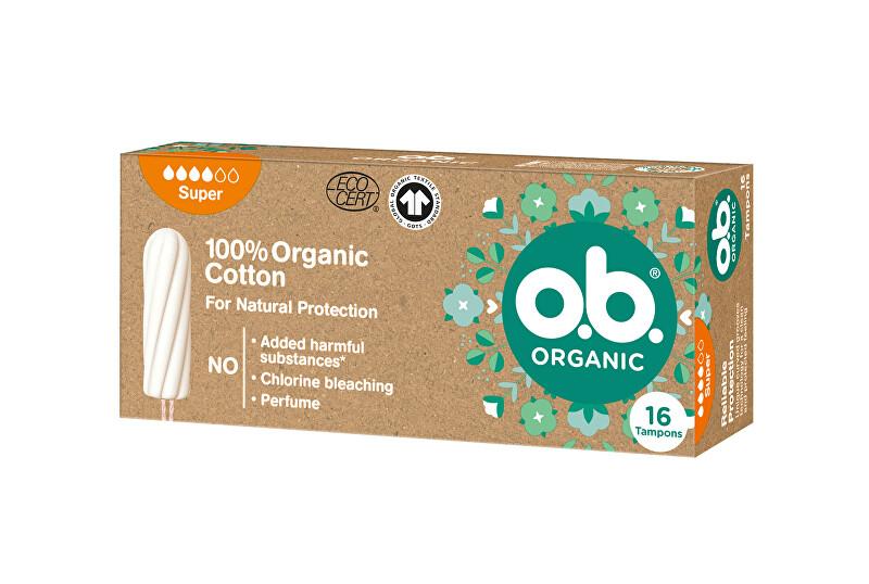 o.b. Tampony Organic Super 16 ks