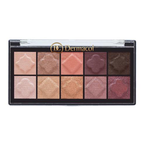 Dermacol Paletka matných a perleťových očních stínů (Matt & Pearl Eyeshadow Palette) 7 g 1