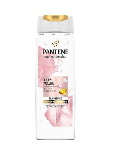Pantene Šampón pre obnovu hustoty vlasov Miracles Biotín + Rose Water (Lift`n` Volume Thickening Shampoo) 300 ml