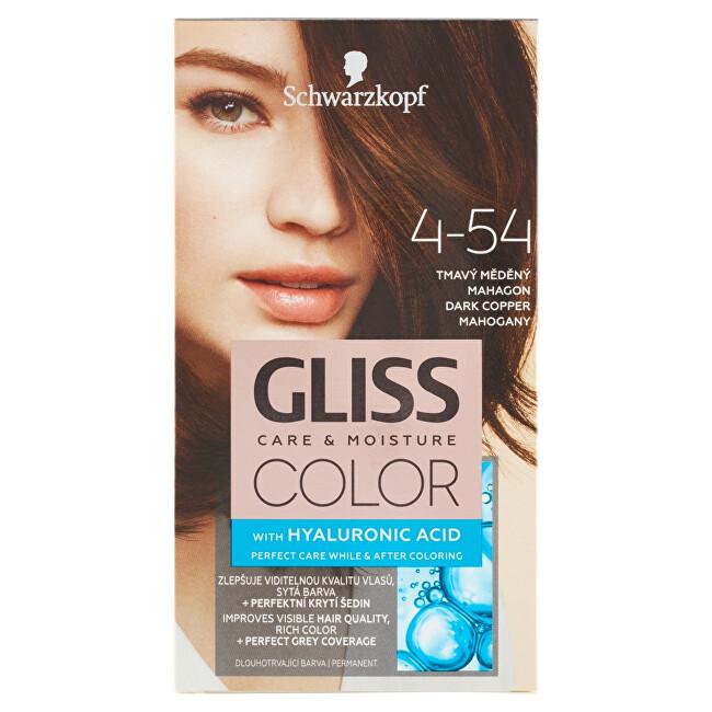 Levně Schwarzkopf Permanentní barva na vlasy Gliss Color 6-16 Chladný perleťově hnědý