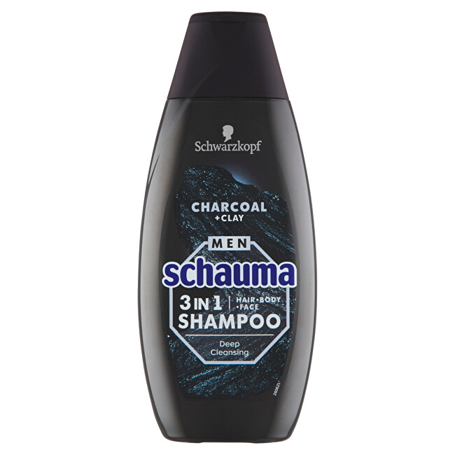 Schauma Šampón pre mužov 3v1 Charocal + Clay ( Hair Body Face Shampoo) 400 ml