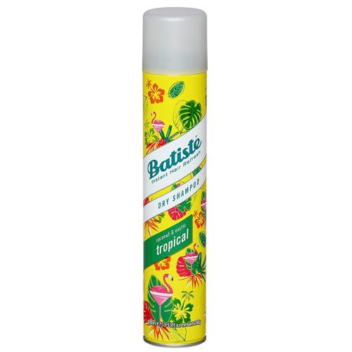 Batiste Suchý šampon na vlasy s vůní tropického ovoce (Dry Shampoo Tropical With A Coconut & Exotic Fragrance) 200 ml