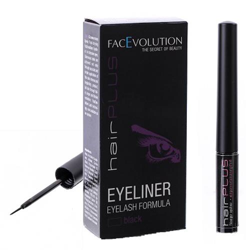 FacEvolution Vyživující tekuté oční linky (Eyeliner Eylash Formula) 1,5 ml Černé
