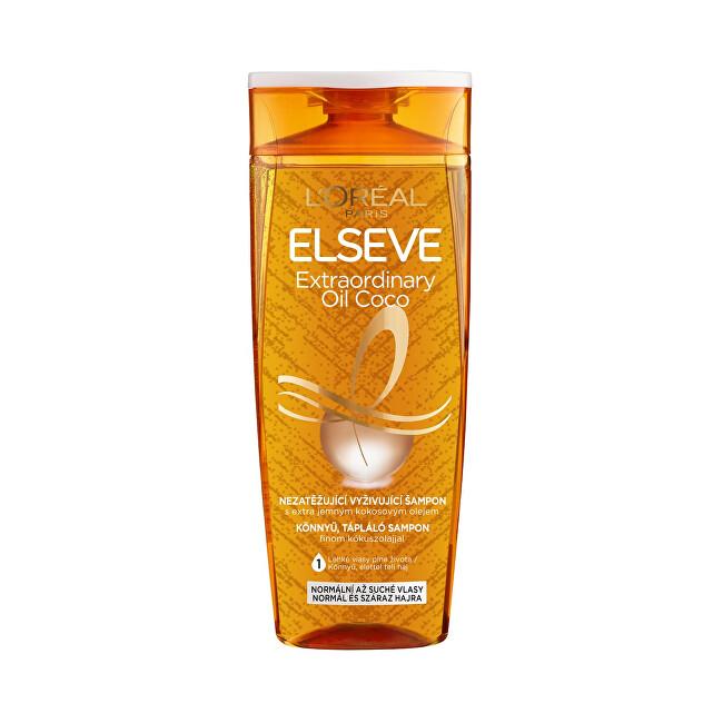 L´Oréal Paris Vyživující šampon s kokosovým olejem na normální až suché, nepoddajné vlasy Elseve Extraordinary Oil 400 ml