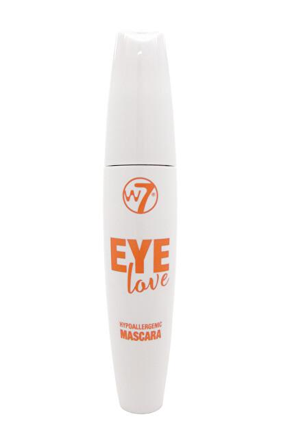 W7 Cosmetics Objemová řasenka Eye Love Hypoallergenic (Mascara) 15 ml Black