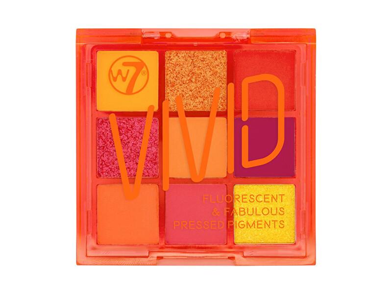 W7 Cosmetics Paletka očních stínů Vivid (Eya Color Palette) 9 g Punchy Pink