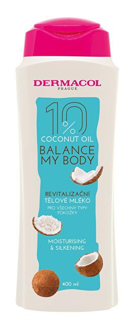 Dermacol Revitalizační tělové mléko Balance My Body Coconut Oil (Moisturising & Silkening Body Milk) 400 ml