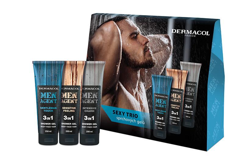 Dermacol Kosmetická sada sprchových gelů pro muže Men Agent