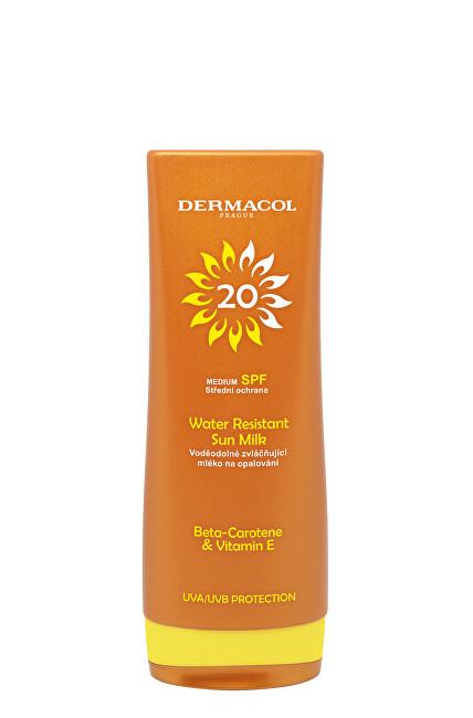 Dermacol Voděodolné zvláčňující mléko na opalování SPF 20 (Water Resistant Sun Milk) 200 ml