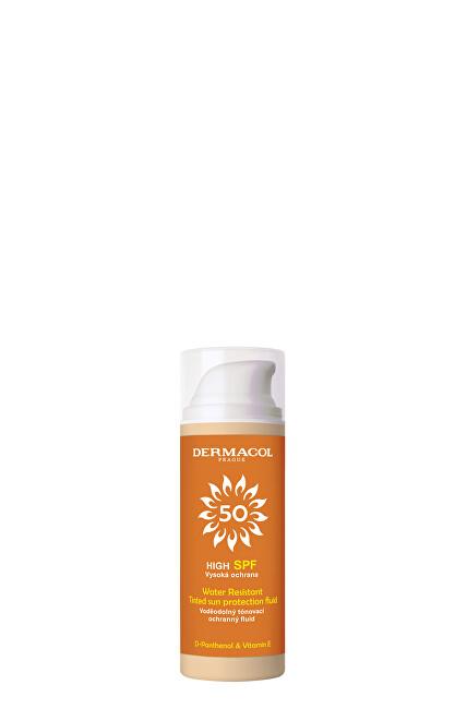 Dermacol Tónovací pleťový fluid Sun SPF 50 (Tinted Water Resistant Fluid) 50 ml