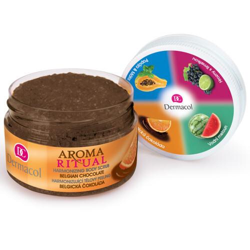 Dermacol Harmonizující tělový peeling Aroma Ritual Belgická čokoláda (Harmonizing Body Scrub) 200 g
