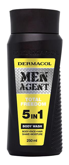Dermacol Sprchový gel pro muže 5v1 Total Freedom Men Agent (Body Wash) 250 ml