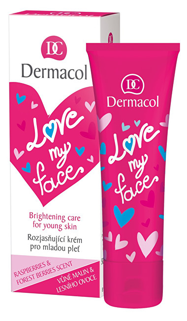 Dermacol Regenerační a rozjasňující krém pro mladou pleť s vůní malin a lesního ovoce Love My Face (Brightening Cream) 50 ml