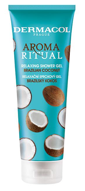 Dermacol Relaxační sprchový gel Brazilský kokos Aroma Ritual (Relaxing Shower Gel) 250 ml
