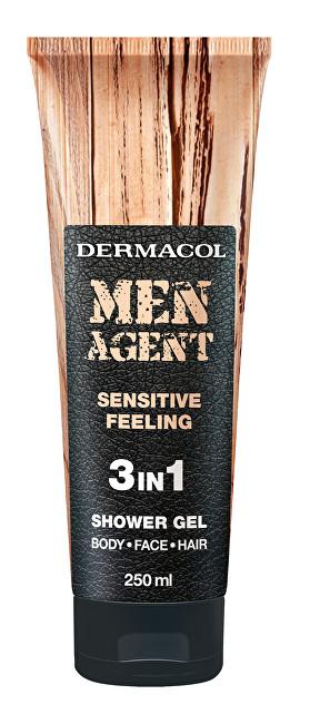 Dermacol Sprchový gél pre mužov 3v1 Sensitive Feeling Men Agent (Shower Gel) 250 ml