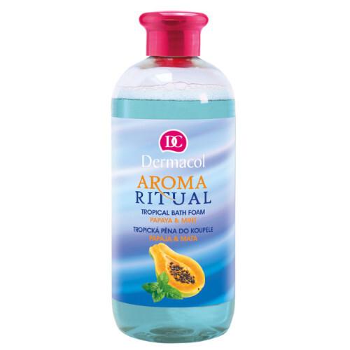 Dermacol Tropická pěna do koupele Aroma Ritual Papája a máta (Tropical Bath Foam) 500 ml