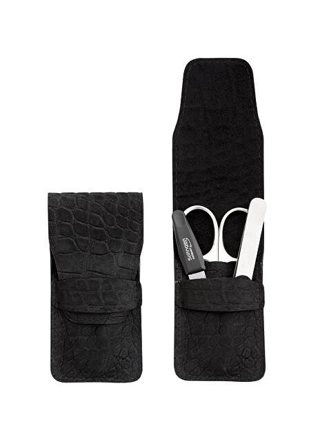 DuKaS Cestovní manikúrová sada 3 dílná černá s páskem PL 1774CN