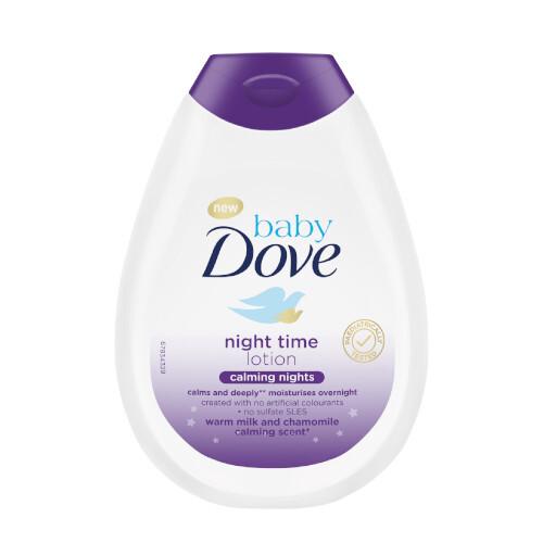 Dove Tělové mléko pro děti s vůní heřmánku Calming Nights Baby (Night Time Lotion) 400 ml