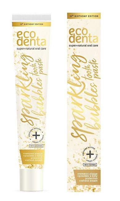 Ecodenta Zubná pasta s príchuťou šampanského (Sparkling Bubbles Toothpaste) 75 ml