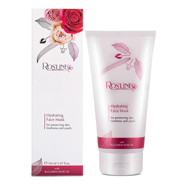 ELLEMARE Hydratačná pleťová maska Rosline Argan Rose Oil ( Hydrating Face Mask) 250 ml