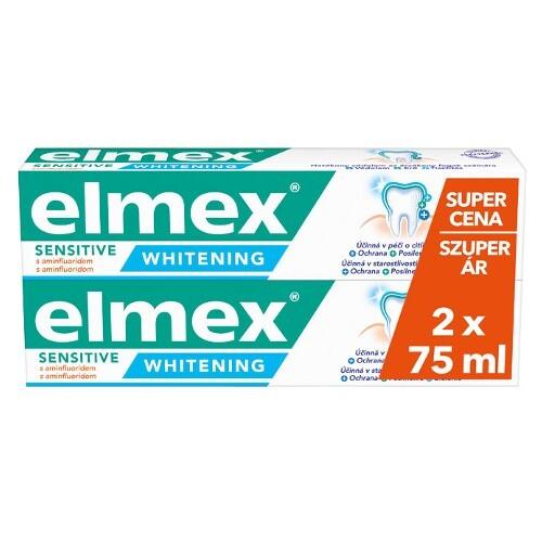 Elmex Bieliaca zubná pasta pre citlivé zuby Sensitive Whitening Duopack 2x 75 ml