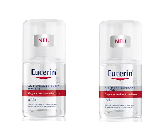 Eucerin Intenzivní antiperspirant sprej (Anti-Transpirant Intensive) 2 x 30 ml