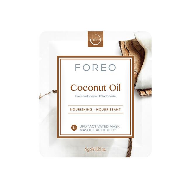 FOREO Vyživující pleťová maska Coconut Oil (Nourishing Mask) 6 x 6 g