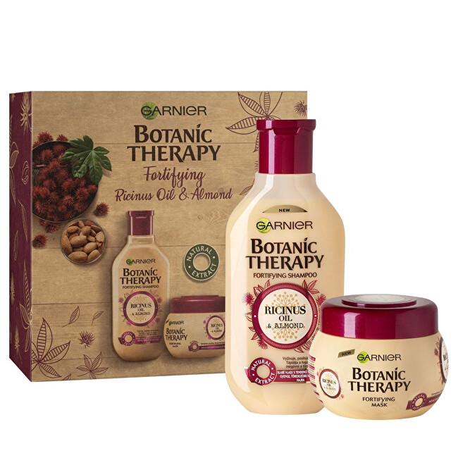 Garnier Kosmetická sada pro slabé a lámající se vlasy s ricinovým a mandlovým olejem Botanic Therapy