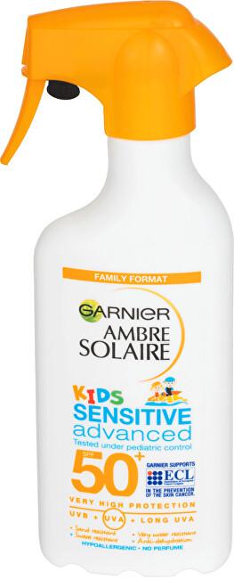 Garnier Ochranný krém proti UVB, UVA a dlouhovlnnému UVA SPF 50+ Ambre Solaire Kids Sensitive Advanced 300 ml