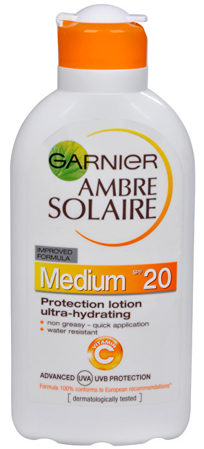 Garnier Opalovací mléko Ambre Solaire SPF 20 (Protection Lotion Ultra-Hydrating) 200 ml