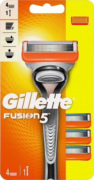 Gillette Holiaci strojček Gillette Fusion Manual + 4 hlavice