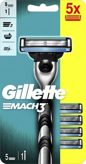 Gillette Holiaci strojček Gillette Mach3 + 5 hlavíc