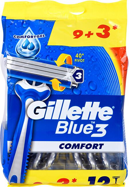 Gillette Pánska jednorazová holítka Gillette Blue 3 9 + 3 ks