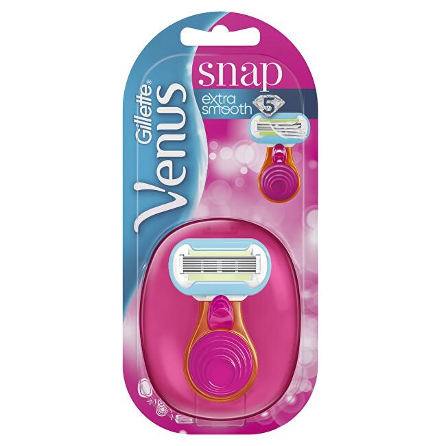 Gillette Holiaci strojček Venus Snap + 1 hlavica Pink