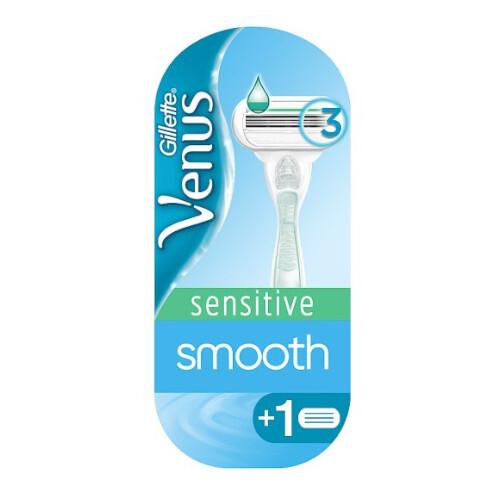Gillette Holiaci strojček Venus Smotth Sensitive + náhradné hlavice 2 ks