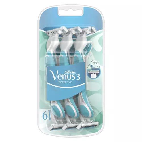 Gillette Jednorazová holítka Venus 3 Sensitiv e 6 ks