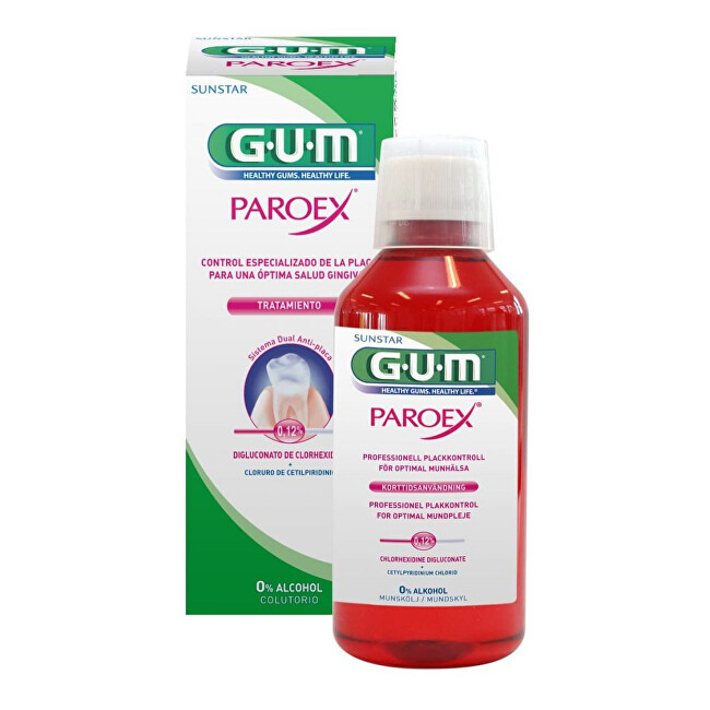 GUM Ústní voda Paroex (CHX 0,12%) 300 ml